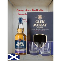 Whisky coffret 2 verres Glen Moray port cask finish